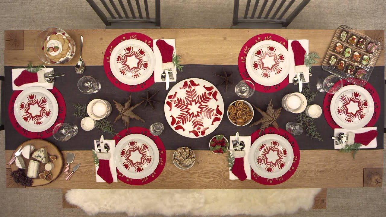 Christmas Table Settings, Just Like That™ - YouTube