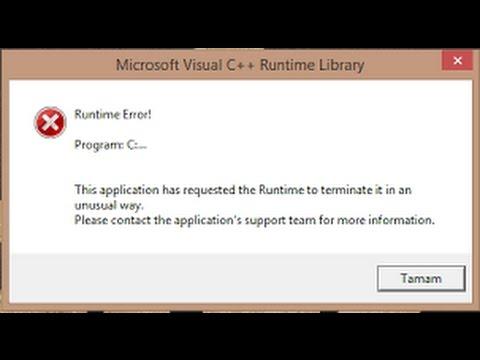 Runtime Error Li Ry Hatasi Kesin Cozum