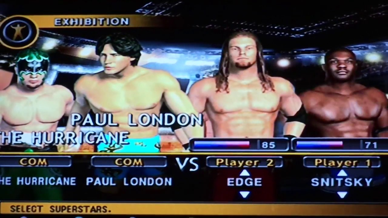 WWE Day of Reckoning 2- Tag Team Match- Carlito & Christian Vs The  Hurricane & Paul London