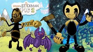 В ИГРЕ СТИКМЕН ГЕРОЙ ИЗ БЕНДИ ЭДГАР МОНСТАР Из Бенди 3 Главы Игра для Детей Draw a Stickman EPIC 2