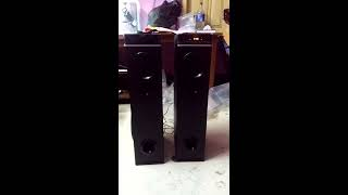 Unboxing of Philips SPT6660 Tower Speakers