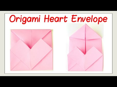 Valentine's Day Crafts - How to Fold an Origami Heart Envelope Paper Craft