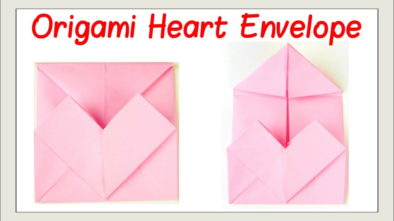 Valentine s Day Crafts How to Fold an Origami Heart Envelope