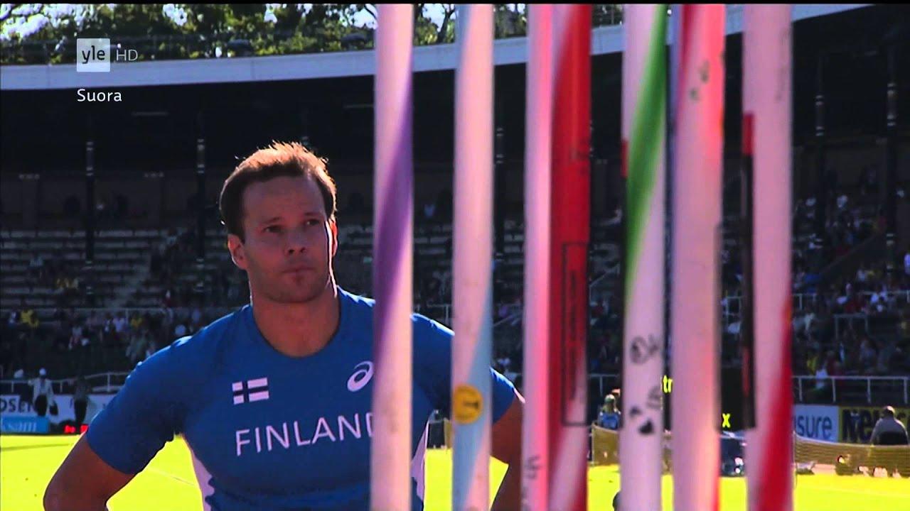Suomi-Ruotsi maaottelu 2013 - Miesten keihäs - 50 fps - YouTube