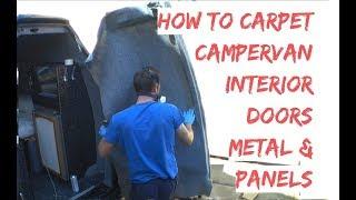 DIY Carpet Lining CamperVan Doors - VW T4 Carpet Van Door Metalwork & Ply Panels