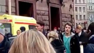 Первые секунды после взрыва в метро