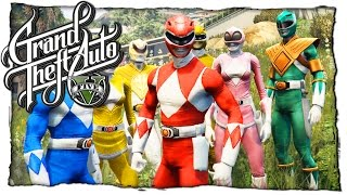 GTA 5 МОДЫ: Power Rangers - МОГУЧИЕ РЕЙНДЖЕРЫ САМОУБИЙЦЫ (ГТА 5 MODS)