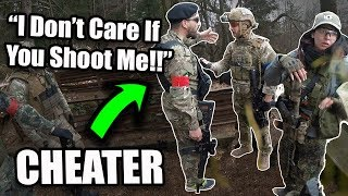 Airsoft Cheater Gets ANGRY 🤬(Instant Karma)