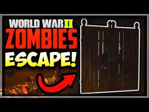 "WW2 Zombies ""Groesten Haus"" Easter Egg Ending - Escape The Map? (Call of Duty WW2 Zombies Easter Egg"