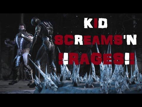 Mortal Kombat X: Online Matches: Kid RAGES/SCREAMS