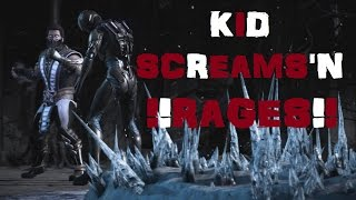 Mortal Kombat X: Online Matches: Kid RAGES/SCREAMS