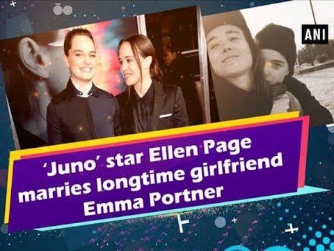 'Juno' star Ellen Page marries longtime girlfriend Emma Portner - ANI News