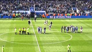 Leicester City vs West Ham - Post game celebrations after 2-2 draw