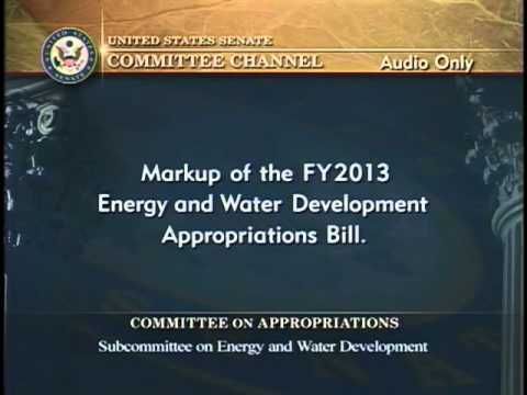Senator Murkowski Remarks at Senate Energy & Water Appropriations Subcommittee Markup 4/24/12