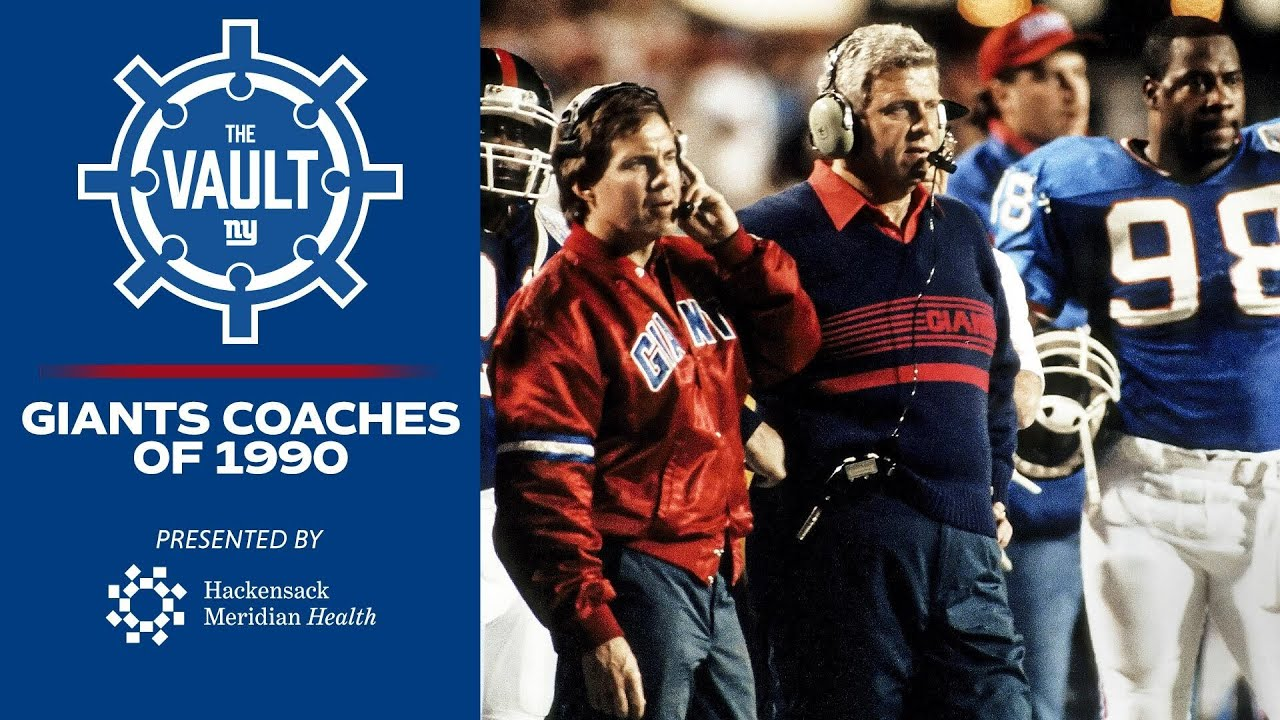 Bill Parcells' SUPER Coaching Staff in 1990 Season; Tom Coughlin, Bill Belichick | New York Giants