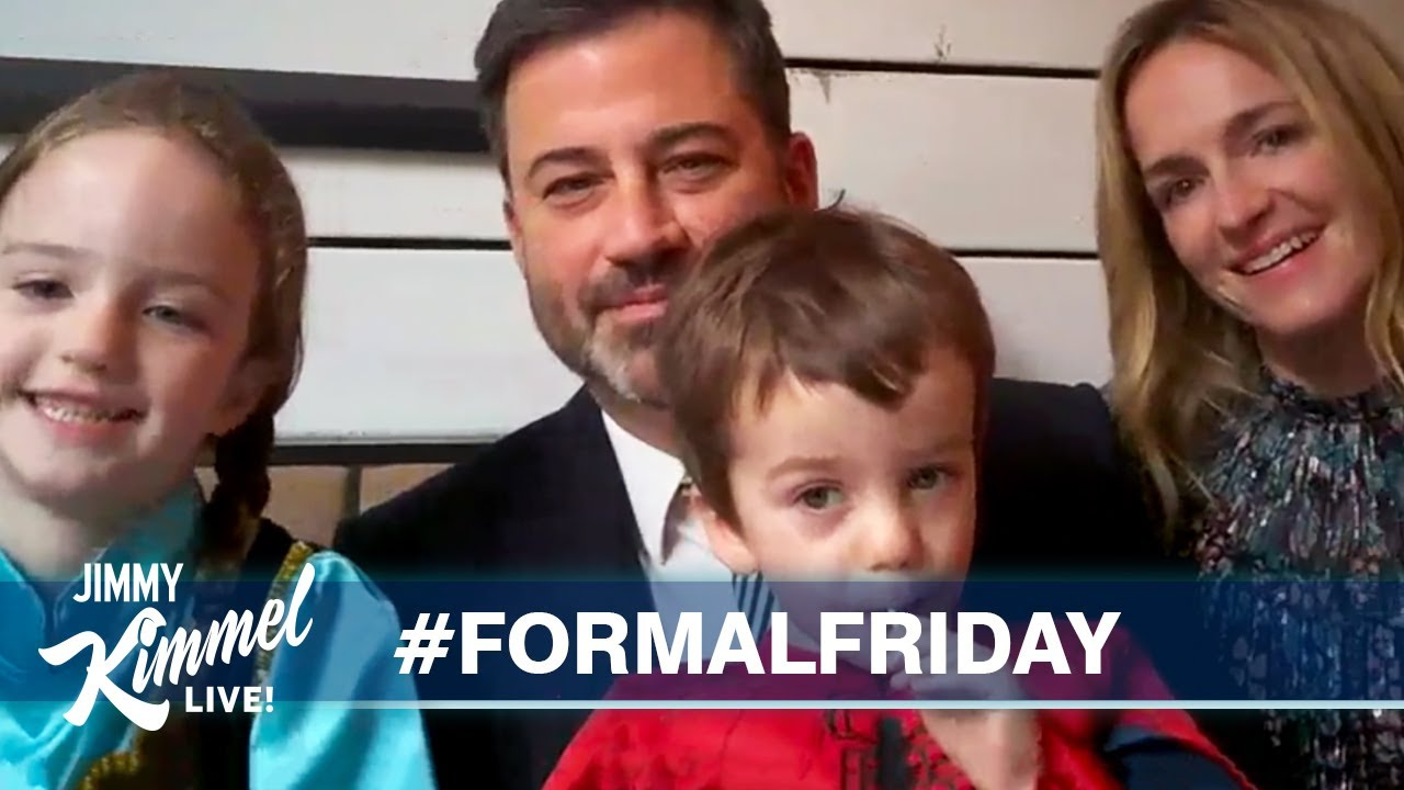 Jimmy Kimmel's Quarantine Minilogue - Formal Friday, Testy Trump & The Killers