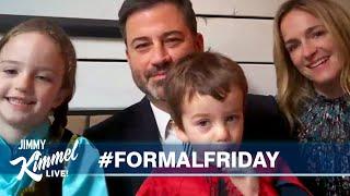 Jimmy Kimmel's Quarantine Minilogue - Formal Friday, Testy Trump & The Killers