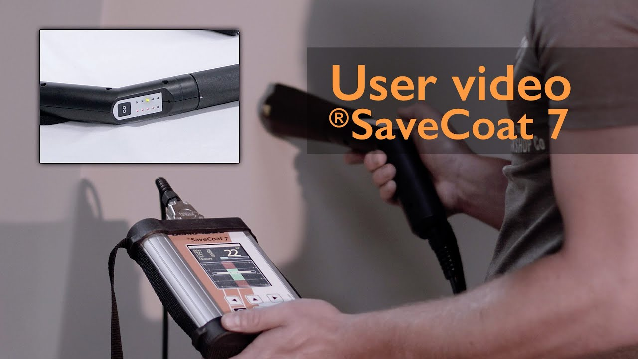 User video savecoat 7 with lgts non contact powder thickness gauge