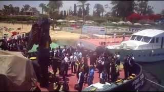 مصر للطيران فى جولة بحرية بقناة السويس الجديدة 12يونيو2015