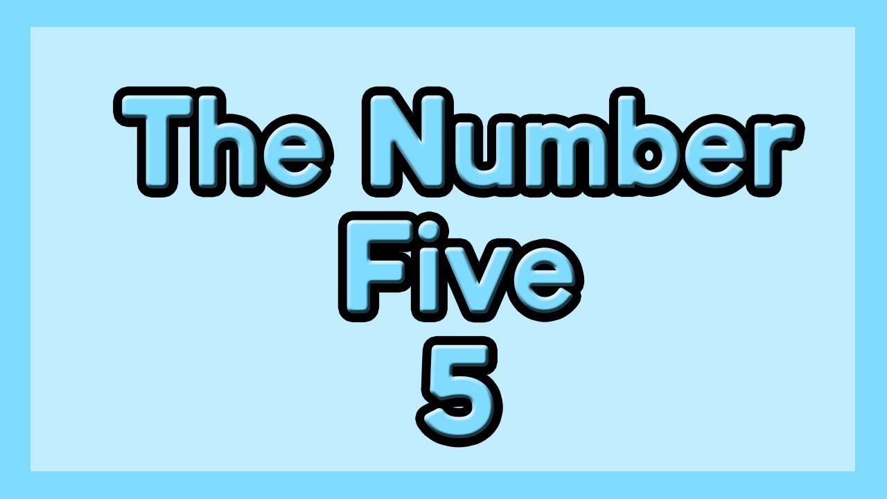 The Number Five with Mozart for kids ESL and children with Autism