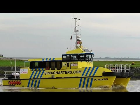 offshore high speed craft SC FALCON 2HDA9 MMSI 235102628 Emden crew boat