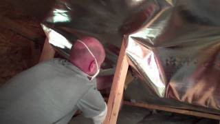 Installing Attic Radiant Barrier Insulation - Truss Built Attic.mpg