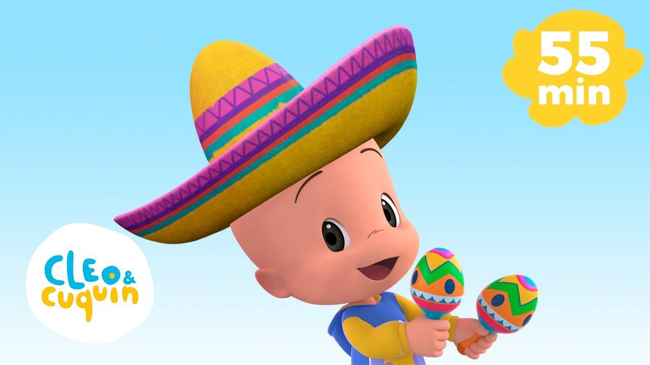 La Bamba y más canciones infantiles con Cleo y Cuquín | Familia Telerin