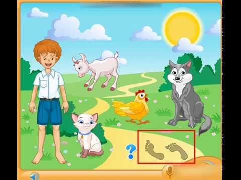 """Обучающая игра для детей 4 - 5 лет """"Чьи следы?""""/ Ознакомление с окружающим миром"""