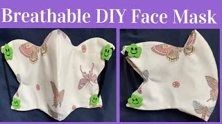 152 How To Make The Most Cutest Breathable Face Mask With Filter Pocket The Twins Day Tutorial
