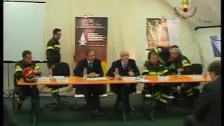 Conferenza stampa nel campo base di Monticchio