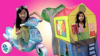 Chloe Pretend Play with Disney Frozen Scooter Ride On Toy with Kaycee Fun TV