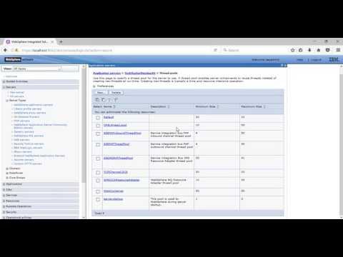 IBM Websphere Application Server Thread Pool