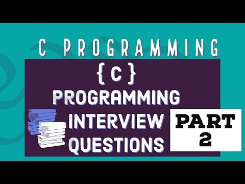 C Programming Interview Questions  - PART 2 thumbnail