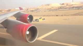 B747-400 Landing At Jeddah Airport