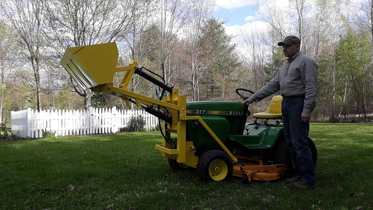 Tractor hydraulic loader attachment PLANS