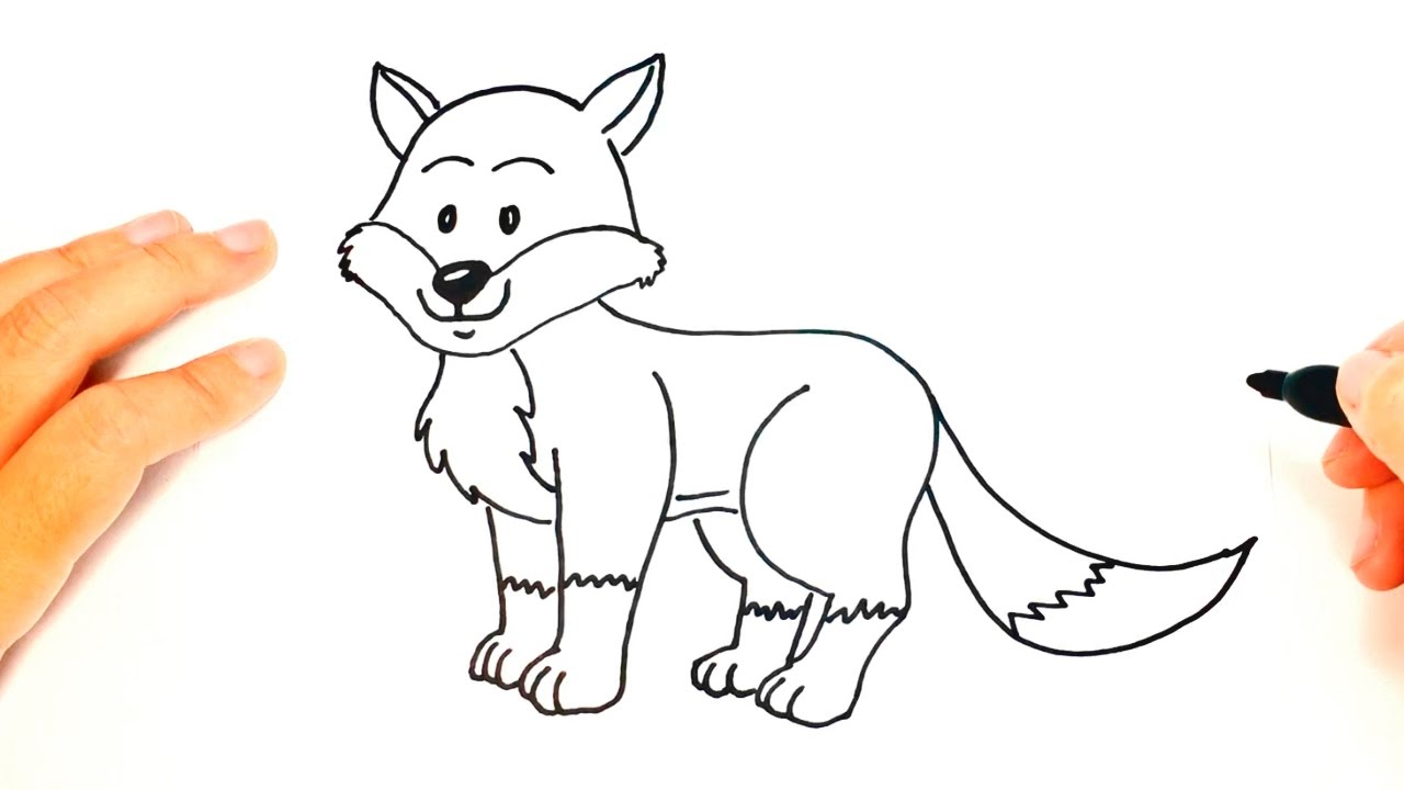 How To Draw A Fox For Kids Fox Drawing Lesson Step By Step Youtube