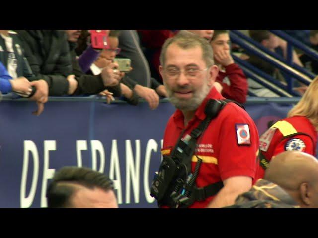 Poste de secours du championnat de France de lutte libre jeune 2019