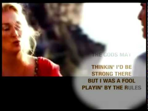 Abba - The Winner Takes it all karaoke (Mamma Mia official Video from the movie) v_-