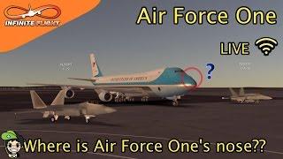 【Episode 13】Infinite Flight Live - Air Force One   ChhaingStudios