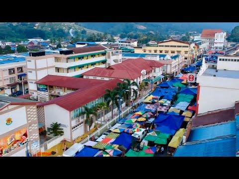 DJI Spark Drone Footage Bentong Market,  Bentong, Malaysia 27/08/2017
