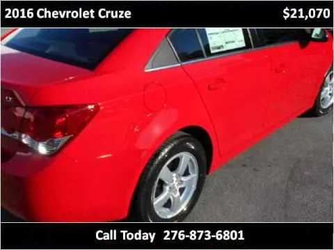 2016 Chevrolet Cruze New Cars Honaker VA. Modern Chevrolet Sales