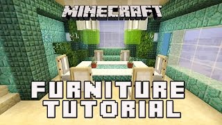 Minecraftl: How To Make A Dining Room  (Coral House Build Part 7)