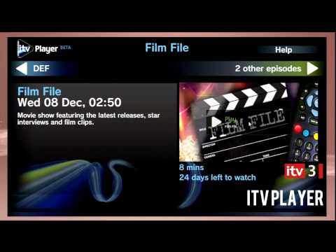 ITV Player and 4OD available now on Playstation 3 14/12/10