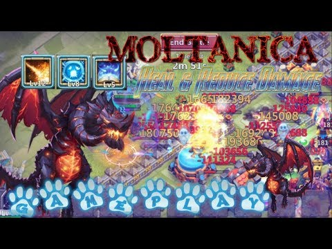 Moltanica Skill 12 Healing Ancient Dragon Gameplay - Castle Clash