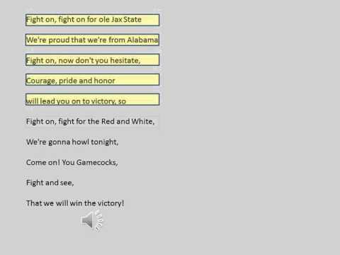 JSU Fight Song with Lyrics