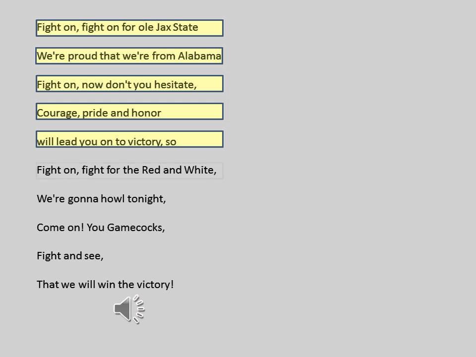 JSU Fight Song with Lyrics - YouTube