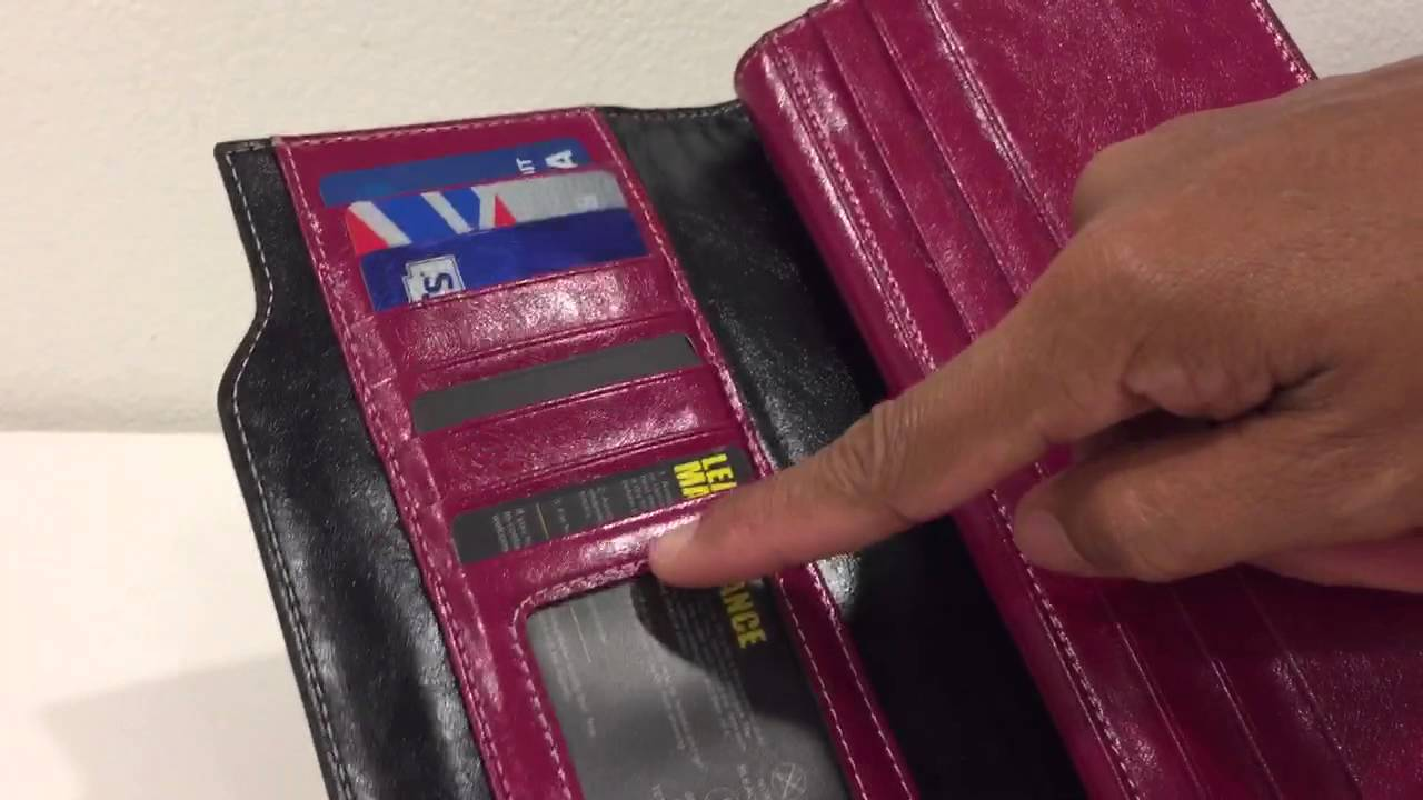 3e0bd40ee289 BOSTANTEN Women's Large Capacity Luxury Wax Genuine Leather Wallet with Zipper  Pocket