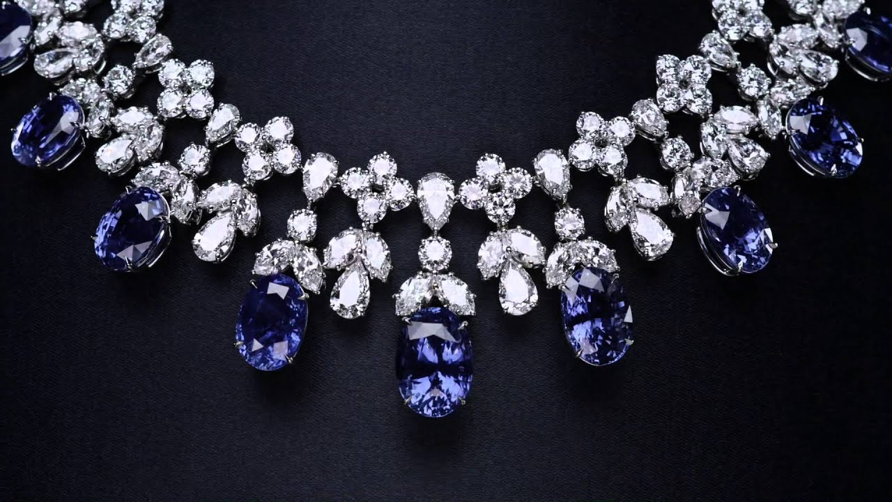 Cascading Sapphire And Diamond Drop Necklace Youtube