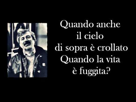 Francesco Guccini - Canzone per un'amica - In morte di S.F. - Testo