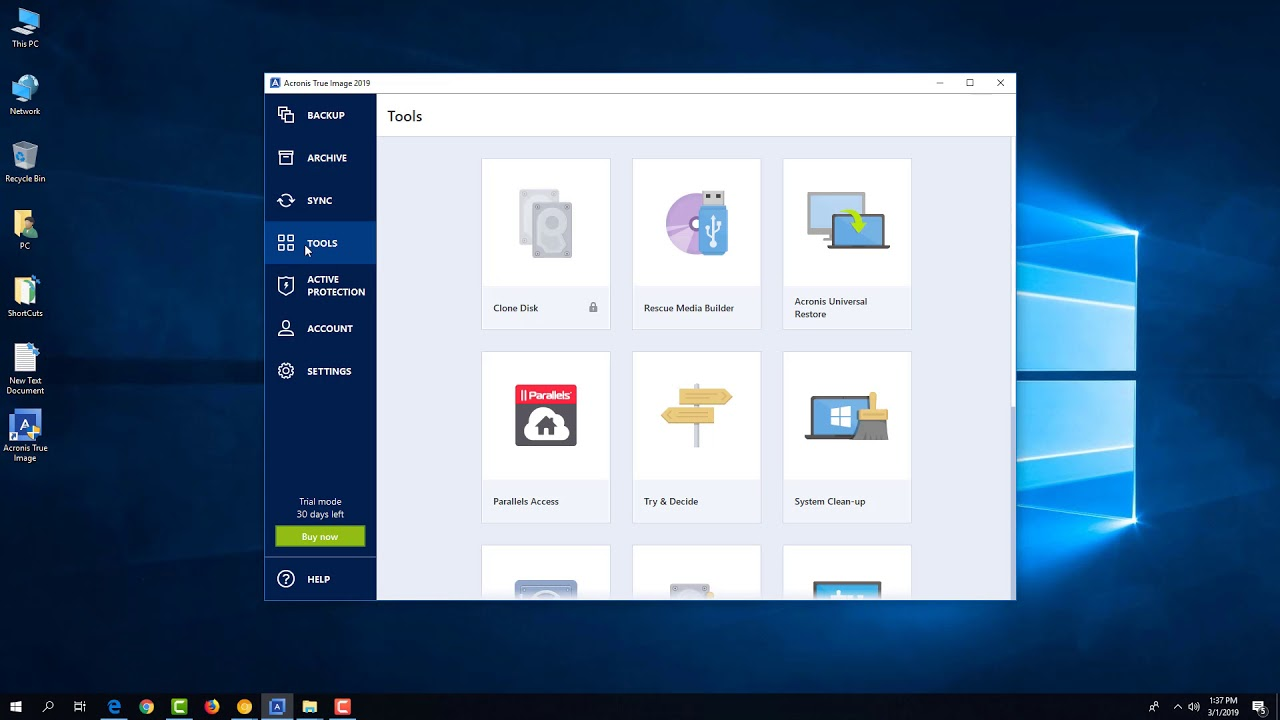 Acronis True Image 2019 Backup Your Computer Easy And How To Create A Recovery Usb Disk Tutorial